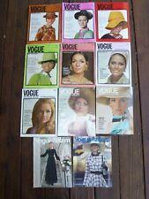 13 International Vogue Pattern Books Catalogs 1967 - 1971 Jean Shrimpton
