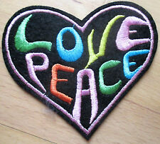 Love Peace Herz Aufnäher / Aufbügler patch Frieden No war Punk Rockabilly heart