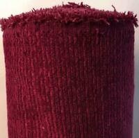 Wine Red Soft Chenille Heavy Weight Furnishing Upholstery Fabric