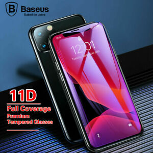 Baseus 11D Full Curved Tempered Glass Protector For iPhone12 Max 6/7/8 Xs /11Pro