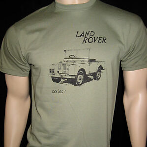 LAND ROVER Series 1 (Prototype) T-SHIRT - Five sizes in Olive Green or Khaki