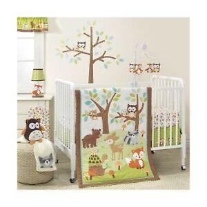 Bedtime Originals Friendly Forest Woodland, 3 Piece Bedding Set, Green/Brown