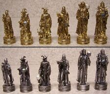 "Chess Set Pieces pewter Fantasy Wizards NIB 3 1/4"" Kings"