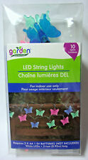 Garden Collection 3 ft long battery operated LED indoor light set (10) butterfly