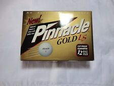 Pinnacle Gold LS Case of 12 White Cut Proof Golf Balls with Square D Logo