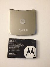 Original Oem, Motorola V3 V3m V3c Razr (Gold) Sprint Battery & Back Cover Door