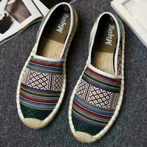 Espadrille Mens canvas shoes Slip-On Loafers Moccasins Hot Fisherman shoes MOON