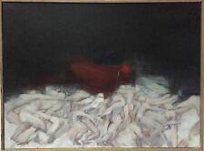 Ceytaire Jean-Pierre huile sur toile signée surréalisme symbolisme