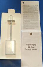 Apple Lightning to SD Card Camera Reader - MJYT2AM/A