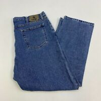 Wrangler Denim Jeans Mens 40X30 Blue Straight Leg 100% Cotton Medium Wash Zip Up