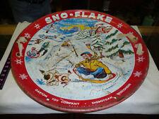 Vintage Sno-Flake Metal Saucer Sled 1950s-60s Garton Toy Company