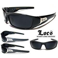 LOCS Sunglasses - BLACK - Chopper / Wrap Around - Ex Quality! (FREE POST IN AUS)