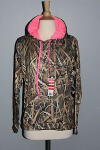 NEW Mossy Oak Shadow Grass Blades Camo Hoodie Ladies S M L XL Hunting Sweatshirt