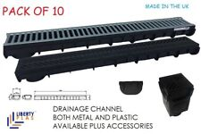 DOMESTIC DRAINAGE CHANNEL PLASTIC & METAL GRATING LIBERTY PLAS DRAIN WATER