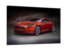 Aston Martin DB9 - 30x20 Inch Canvas - Framed Picture Poster Print