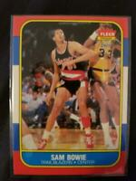 1986-87 FLEER #13 SAM BOWIE RC - BLAZERS - SHARP CORNERS - BRIGHT COLORS - MINT