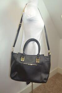 STEVE MADDEN Misses XLarge Black Laptop Profeesional Faux Leather Bag Nice