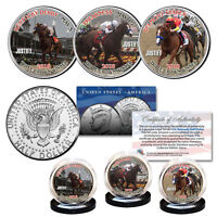 JUSTIFY Triple Crown Winner Race Horse 2018 Kennedy Half Dollar 3-Coin U.S. Set