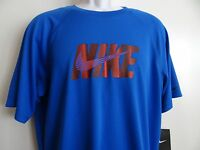 Nike Men's Blue Dri Fit Short Sleeve Athletic Crew Neck T-Shirt Size L XL NWT