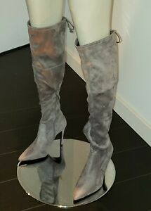 Guess Akera Women Size 8.5 Gray Over the Knee Boots Highland Heels Faux Suede