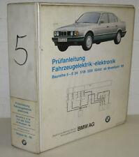 Werkstatthandbuch BMW 5er E 34 / 518i 520i 524td Elektrische Schaltpläne 1989!