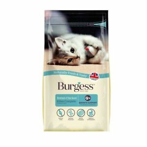 Burgess British Chicken Complete Dry Kitten Food 1.5kg Bag Growth Support Cat