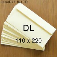 DL 100gsm IVORY ENVELOPES CARDS PAPER INVITATIONS WEDDING SMALL CRAFT MAKING LOT