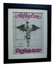 MOTLEY CRUE+Dr Feelgood+POSTER+AD+ORIGINAL+1989+QUALITY FRAMED+FAST GLOBAL SHIP