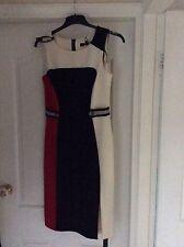 STAR BY JULIEN MACDONALD BLACK! RED & CREAM  DRESS SIZE 12