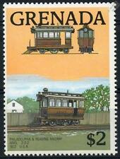 Grenadian Train & Rail Postal Stamps