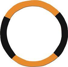 Orange & Black Steering Wheel Cover - Like Seat Covers - or Choose Colors