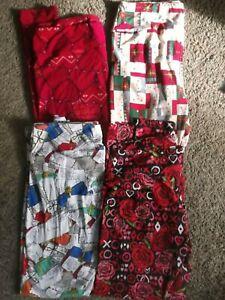 NEW Lot Lularoe Size TC Tall Curvy Holiday Leggings Valentines Christmas Letters