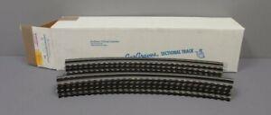 "Gargraves WT-72-101 3 Rail Phantom Tinplate 72"" Curve Wood Tie Sectional Track"