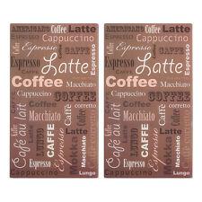 2 x Glas Herdabdeckplatte Herd Abdeckung Platte für Ceranfeld Induktion Kaffee