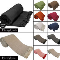 Luxury 100% Indian Cotton Sofa / Bed Throw Throw 9 Colors Giant Jumbo Size