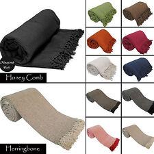 Luxury 100% Indian Cotton Sofa / Bed Throw Throw 9 Colors Giant Jumbo Size