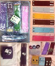 Lot 40 Sued Leather Wide Cuff Bracelet-Wristband-DIY-Craft-Jewelry-Adjustable