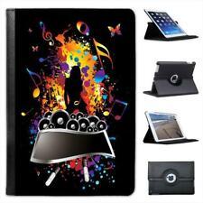 Rock Superstar Woman Music Speaker Folio Leather Case For iPad Mini & Retina