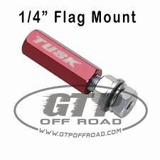 """Tusk Quick Release Flag Pole Holder Mount 1/4"""" RED atv utv sxs whip sand dirt mx"""