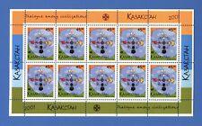 KAZAKHSTAN: MNH 2001 Year of Dialogue Among Civilizations Mini sheet 10 stamps