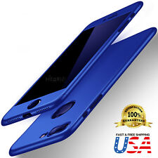 iPhone 8 & 7 Plus 360 Hybrid Full body case and Tempered Glass Screen Protector