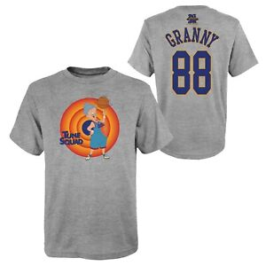 Space Jam Kinder T-Shirt Tune Squad NN Granny A New Legacy 2 Youth Size NBA