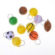 Basketball Football Tennis Golf Ball Keychain Billiards Pinch Ball Keyring LTCA