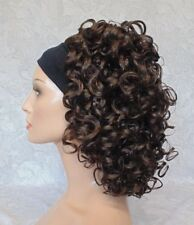 Short Super Curly Dark Brown Silky Soft Headband Wig - 781