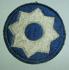 AMERICAN PATCHES-ORIGINAL WW2 UNITED STATES 8th SERVICE COMMAND SNOWY BACK