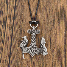 Viking Necklace Wolf Crow Pendant Simple Men Women Good Luck Jewelry 1 Pc