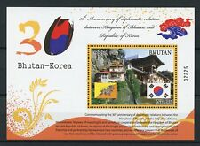Bhutan 2017 MNH Diplomatic Relations Korea 1v S/S Temples Architecture Stamps