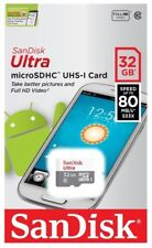 New SanDisk Ultra microSDHC MicroSD TF 32GB 32G 80MB/S Class 10 Memory Card