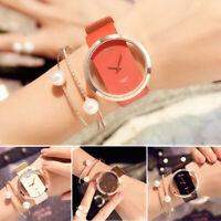 Elegant Women Classic Casual Hollow Quartz Watch Leather Strap Wrist Watches NEW
