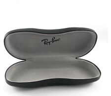 Ray Ban Eye Glasses/Sunglasses BLACK HARD Cover /CASE /Pouch With Cleaning hanky
